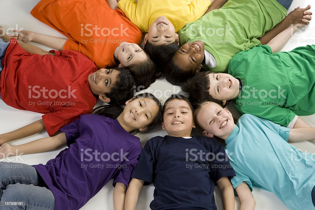 Colorfully Diverse Children stock photo