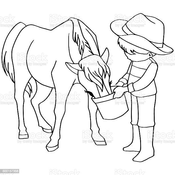 Coloring book child feeding horse vector picture id500157358?b=1&k=6&m=500157358&s=612x612&h=rc01wqvddxnftnv iedkbhw1e5mg9 mnzr 26go9leo=