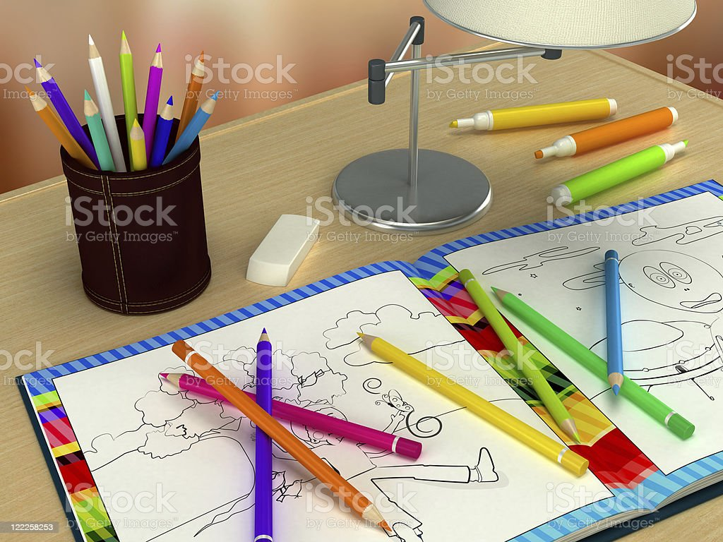 Coloring book royalty-free stock photo