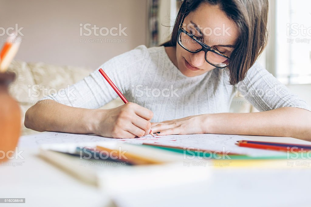 Coloring book relax stock photo