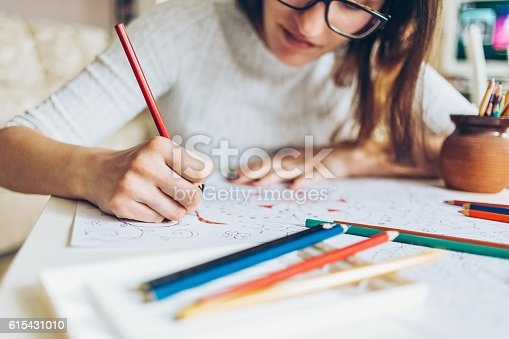 istock Coloring for adults 615431010