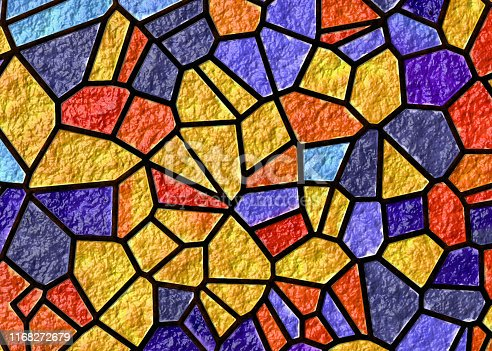 Coloring Glass Art Pattern stock photo