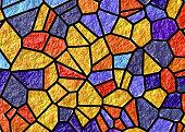 Coloring Glass Art Pattern stock photo