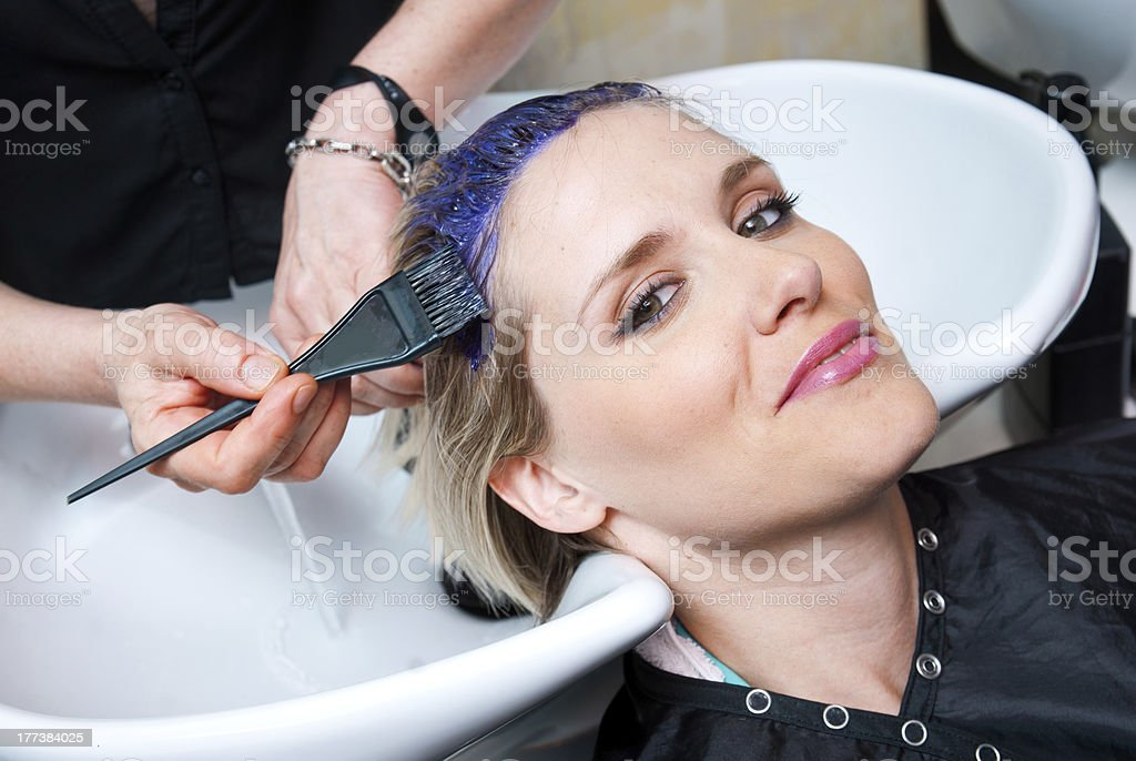 coloring hair stock photo