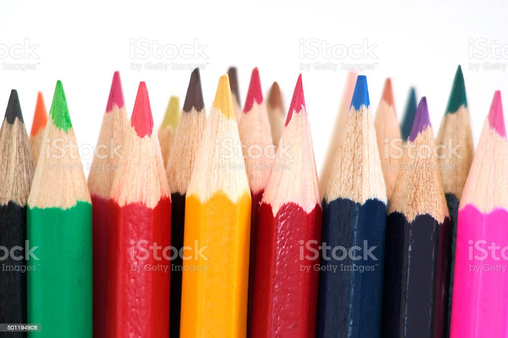 Coloring in Pencils stock photo
