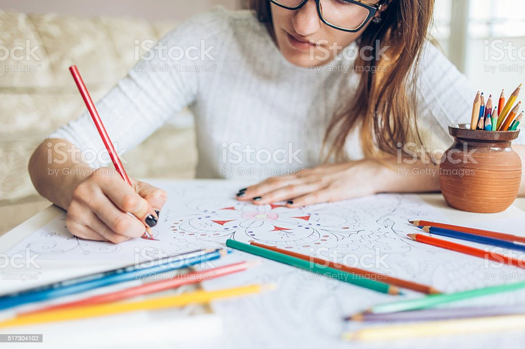 Coloring pages for adults stock photo