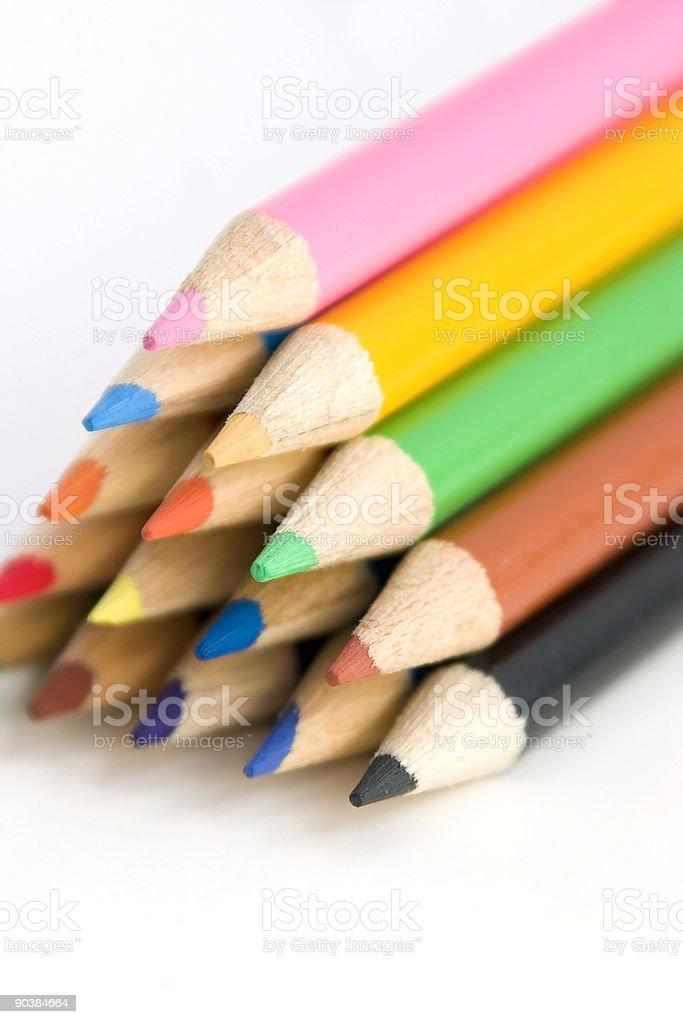 Coloring Pencils in Pyramid at an Angle royalty-free stock photo