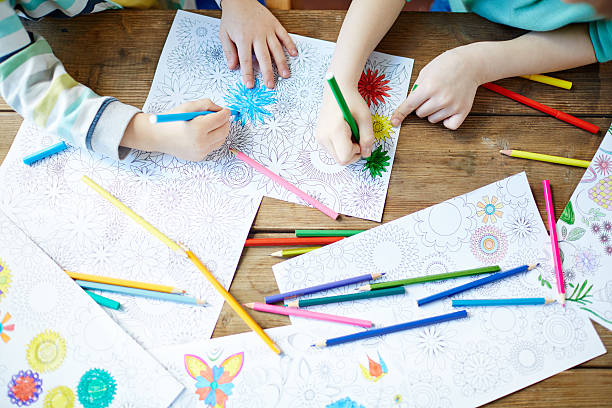 coloring pictures - colouring book stock photos and pictures