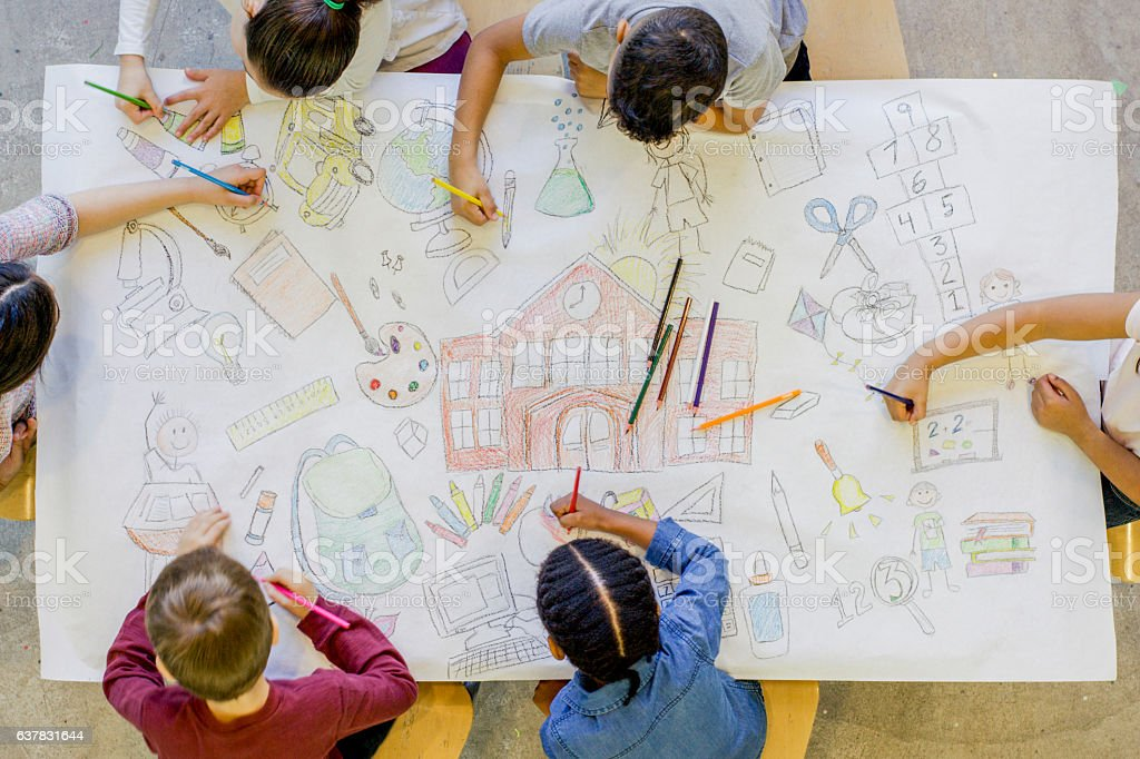 Coloring School Concepts stock photo