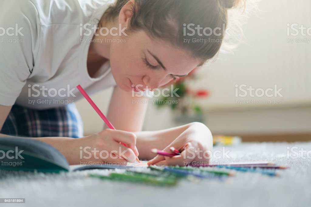 Coloring Therapy stock photo