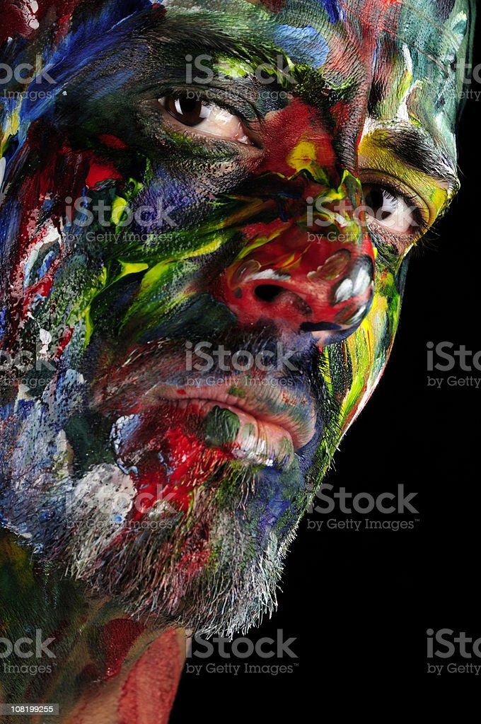 Colorman The Superhero royalty-free stock photo