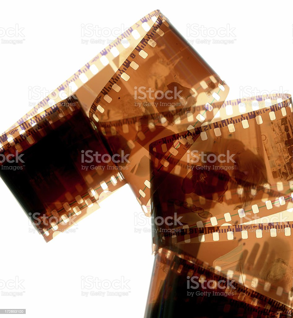 Color-negative 35 mm film stock photo