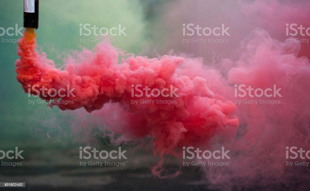 Bombas de humo de coloroful rosa - foto de stock