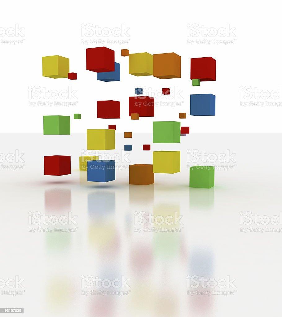Blocchi di edificio colori foto stock royalty-free