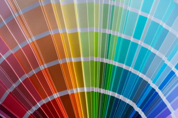kleuren catalogus - kleurenwaaier stockfoto's en -beelden