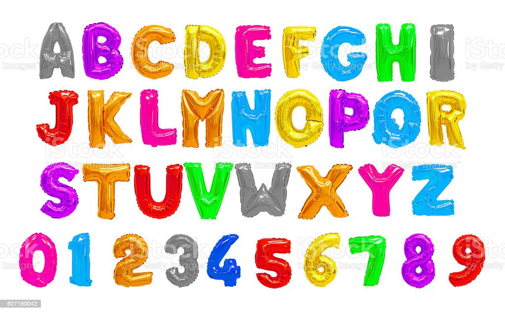 Colors English alphabet stock photo