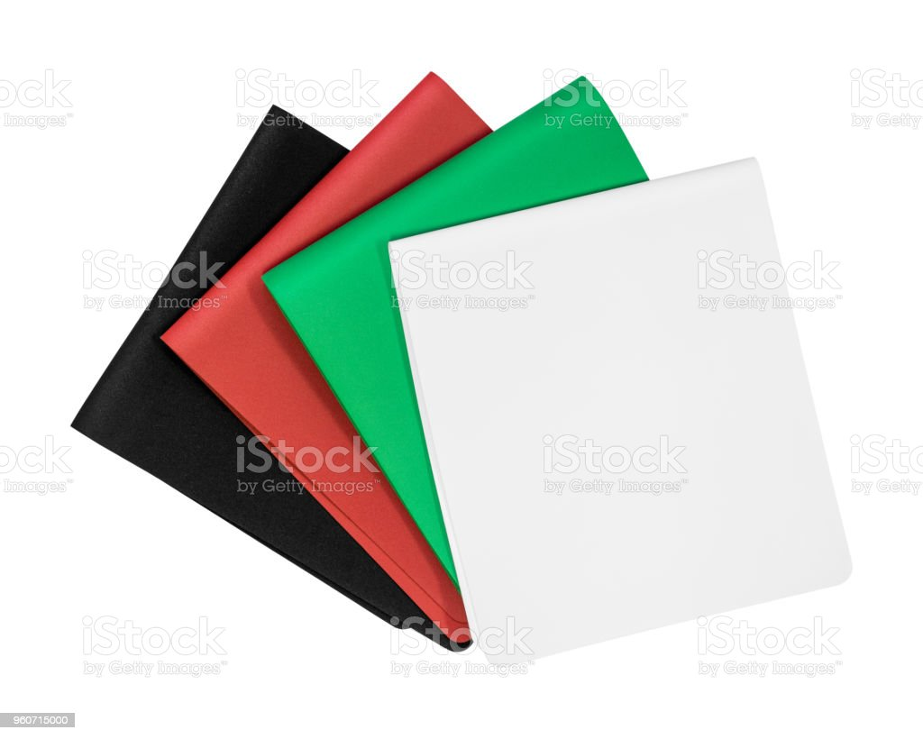 Colors foam board isolated on white background. Empty rubber sheet. ( Clipping path ) stock photo
