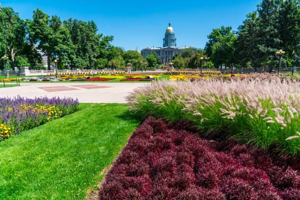 Farben-Gärten vor Colorado State Capitol grüner Raum – Foto