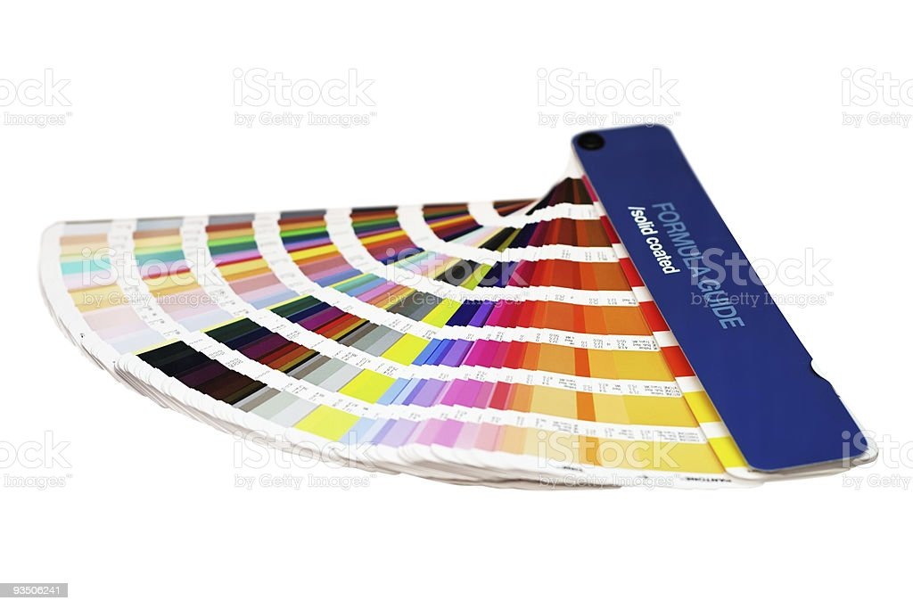 Colors guide book stock photo