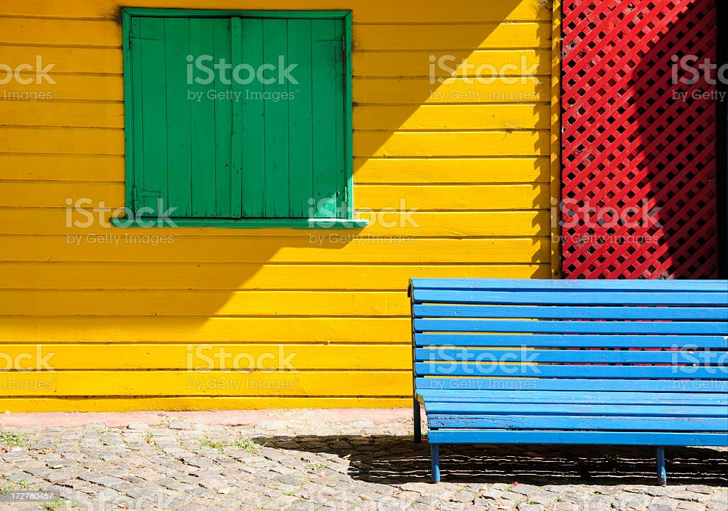 Colors in Caminito, La Boca, Buenos Aires, Argentina stock photo