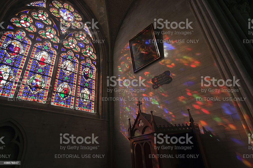 Colors inside the cathedral stock photo