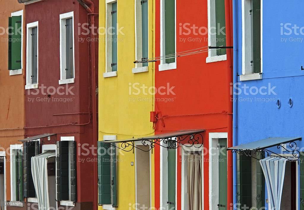 Colors of Burano royalty-free stock photo