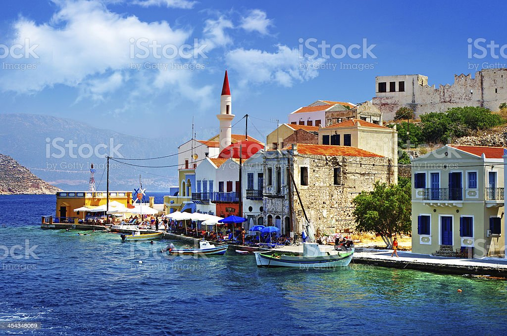 colors of Greece - Royalty-free Bay of Water Stock Photo