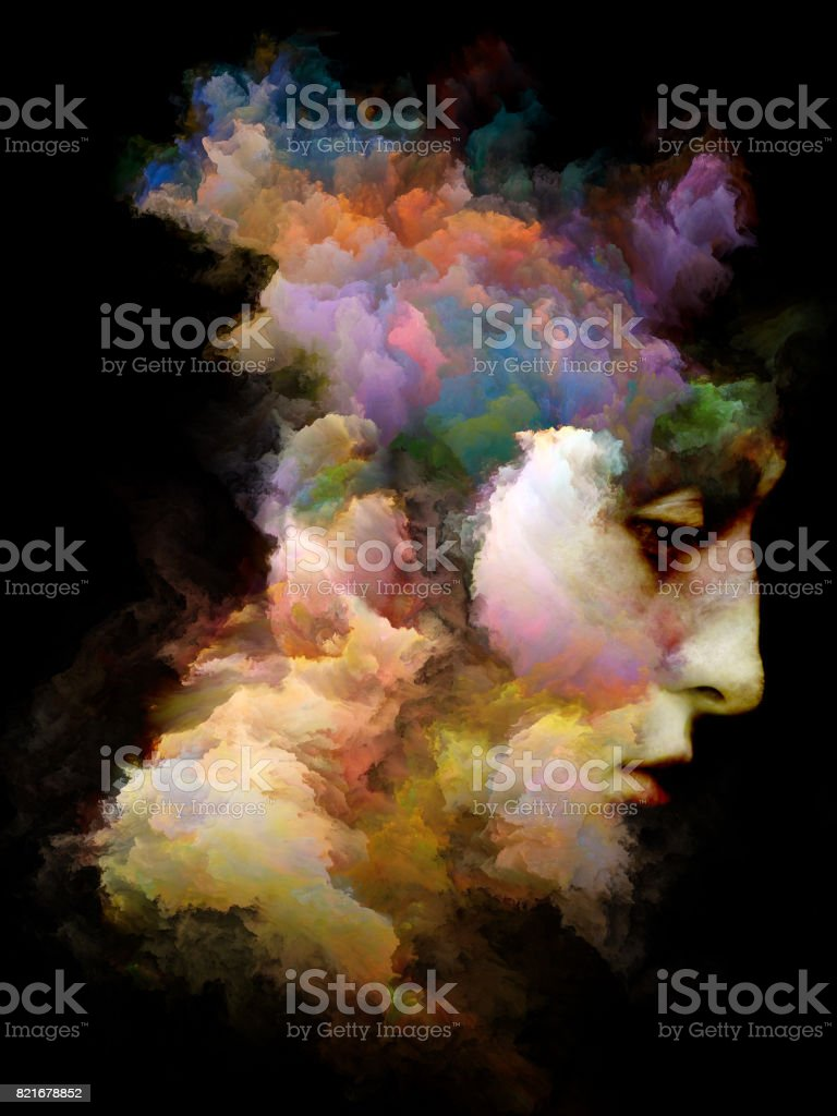 Colors of Mind stock photo