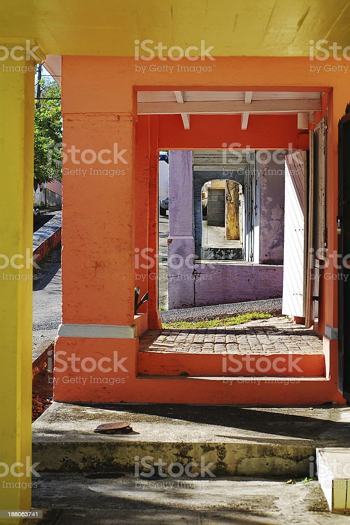 Colors of St. Croix, USVI stock photo