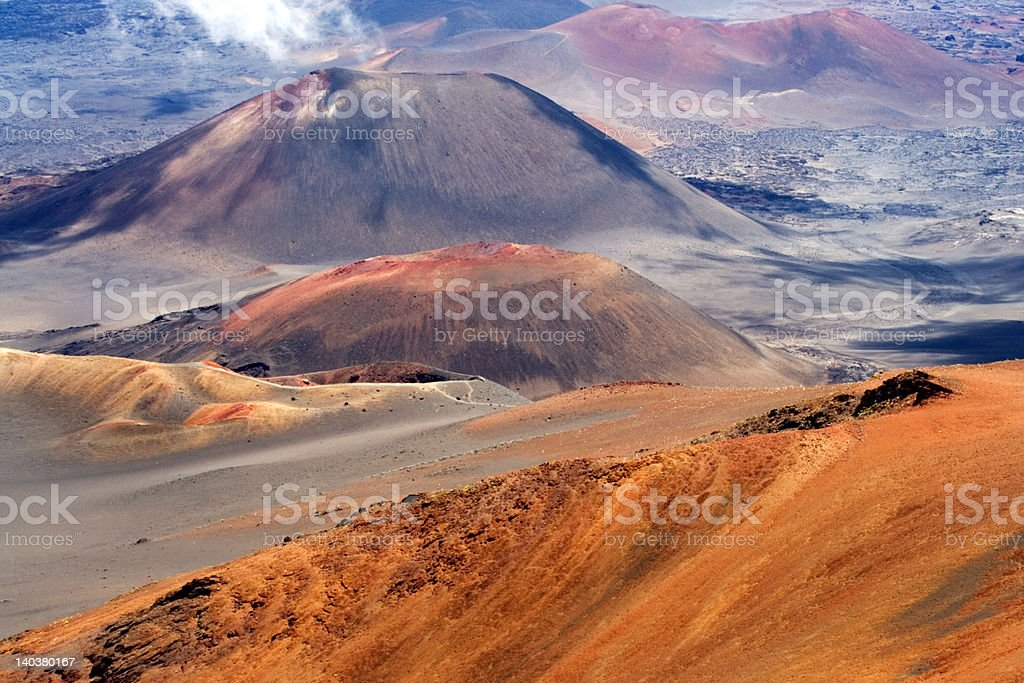 Colors of the volcano stock photo
