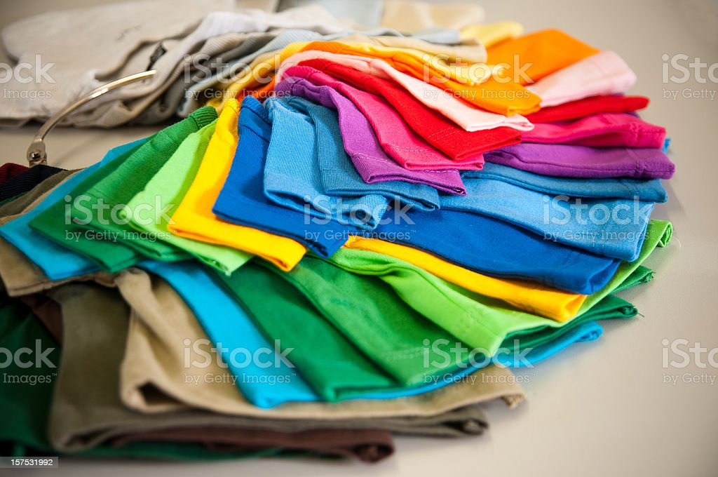 colors of t-shirt stock photo