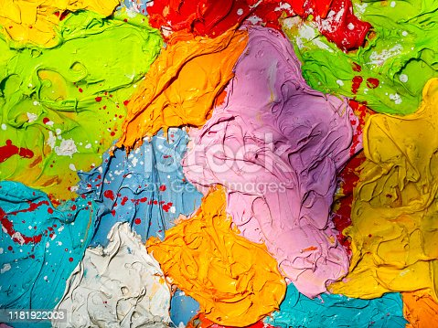 istock Colors on a painter's palette 1181922003