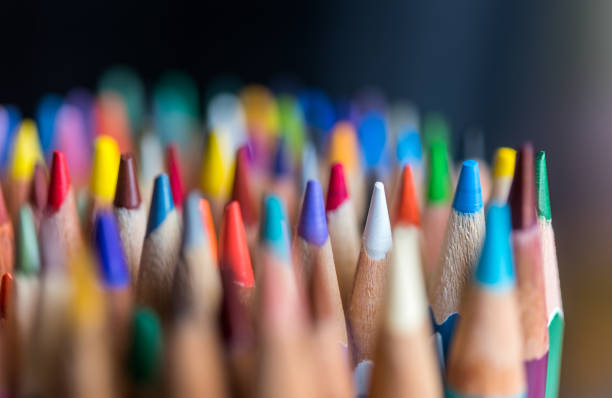 colors - coloured pencil stock photos and pictures