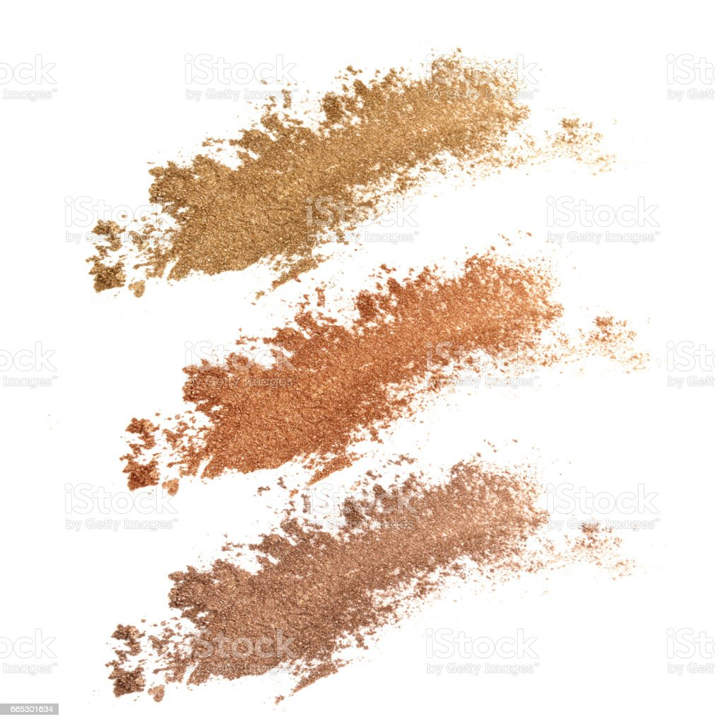 Colors shade brown and golden tone eye shadow stock photo