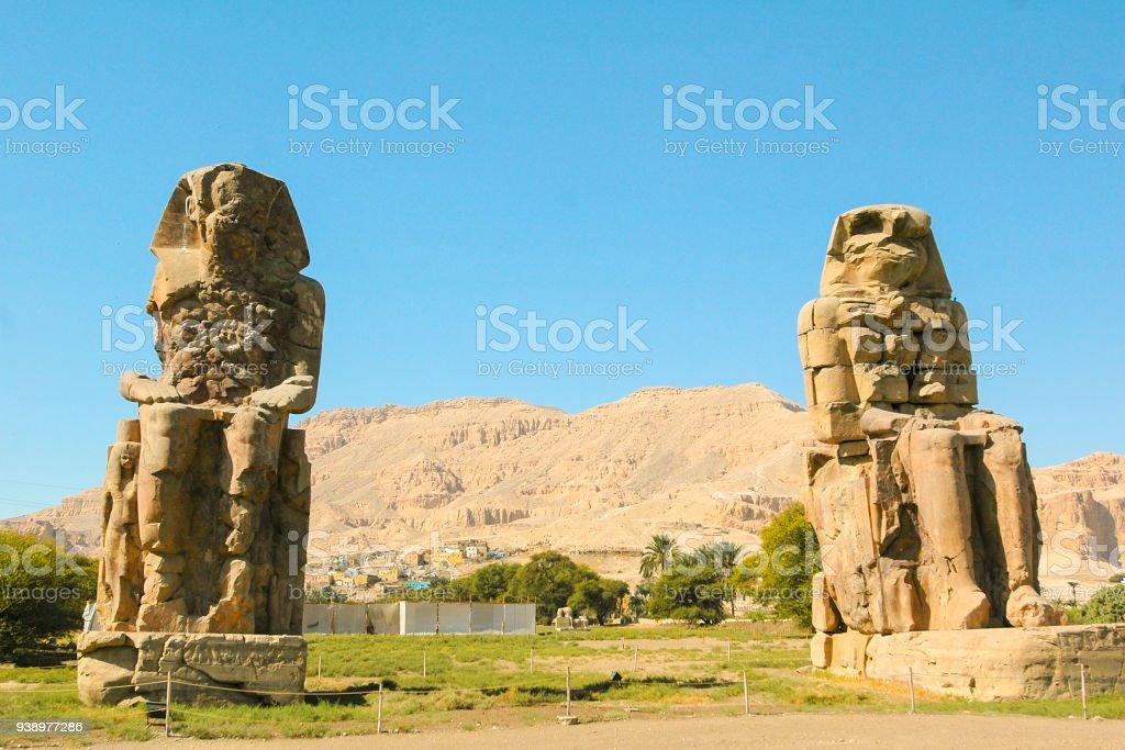 Colos of Memnon, Egypt stock photo