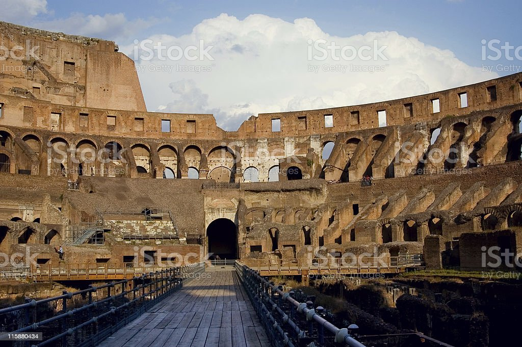 Coloseum Inside royalty-free stock photo