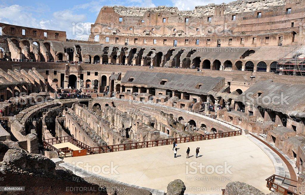 Colosseum amphitheater. Rome, Italy stock photo