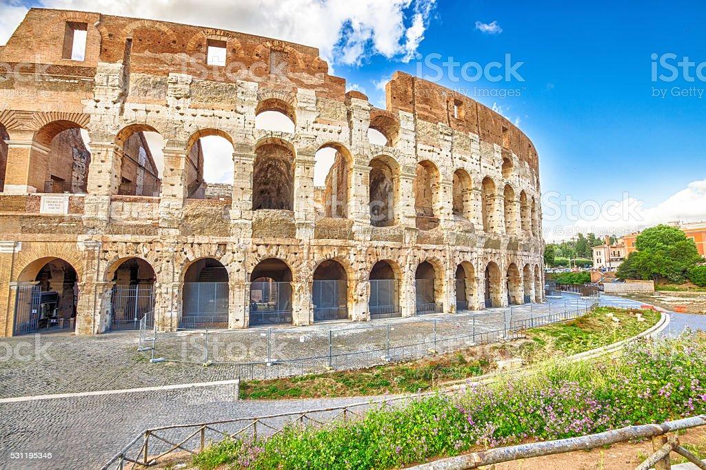 Colosseum Amphitheatre Rome stock photo