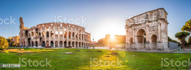 Colosseum and constantine arch at sunrise rome panorama picture id641372858?b=1&k=6&m=641372858&s=612x612&h=7bbs79e91zt ttyjv1lenanpnh4ifpienvv jknkkfw=