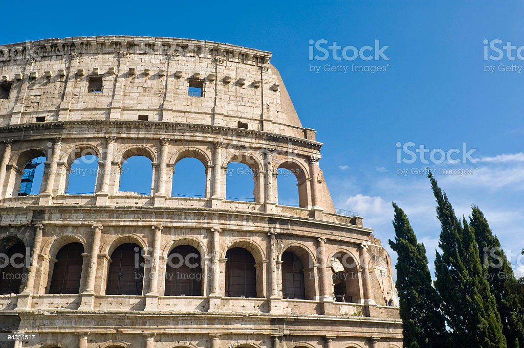 Colosseum arches, Rome royalty-free stock photo