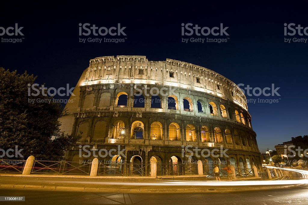 Colosseum at dusk royalty-free stock photo