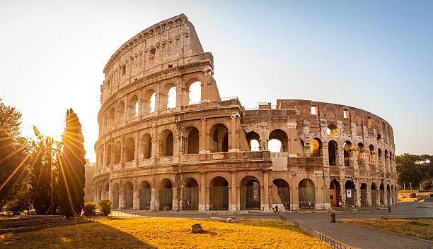 Colosseum at sunrise, Rome, Italy – Foto