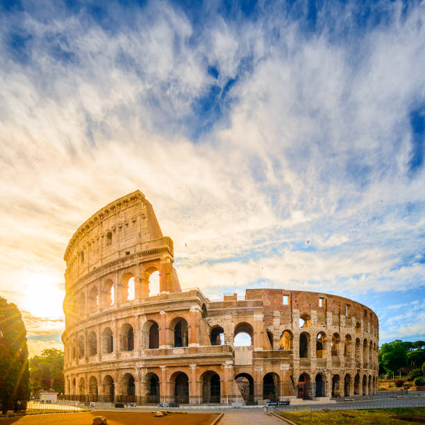 Colosseum at sunrise, Rome Colosseum at sunrise, Rome coliseum rome stock pictures, royalty-free photos & images