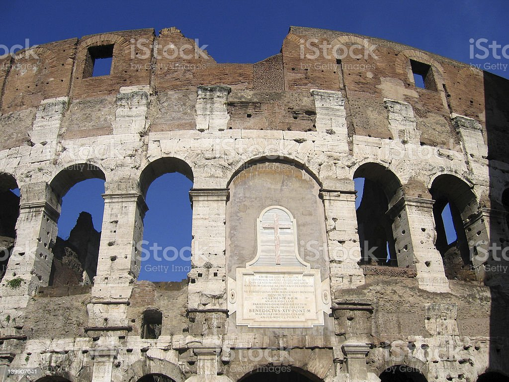 Colosseum - Close up royalty-free stock photo