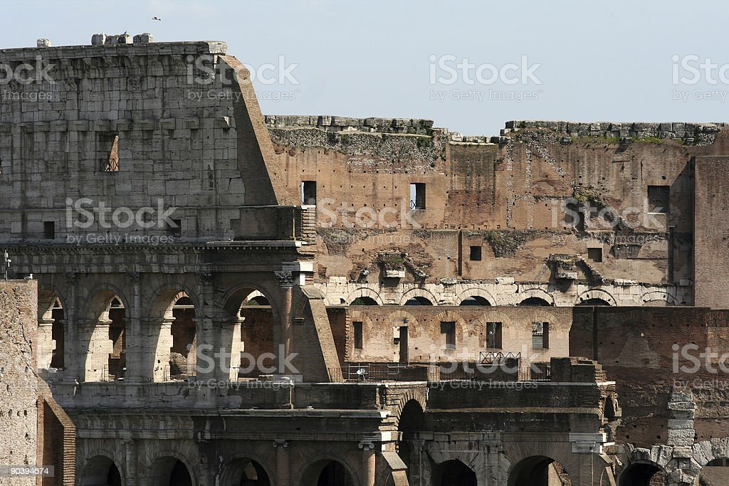 Colosseum close-up, Rome Italy royalty-free stock photo