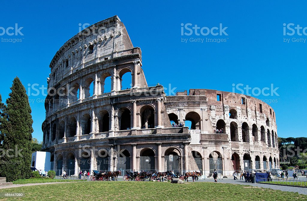 Colosseum, Coliseum or Flavian Amphitheatre (Rome, Italy) stock photo