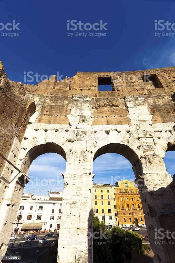 Colosseum details royalty-free stock photo
