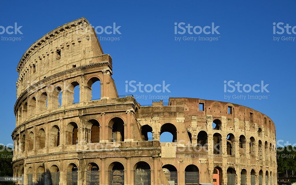 Colosseum in evening sunshine royalty-free stock photo