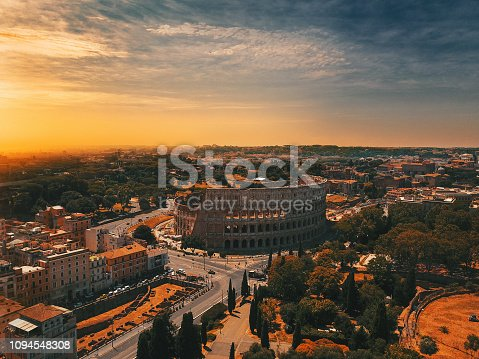 Rome - Italy, Italy, Coliseum - Rome, Europe, Famous Place,Aerial view