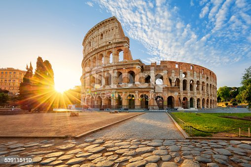 istock Colosseum in Rome and morning sun, Italy 539115110